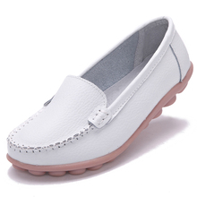 Four Seasons Flat Shoes Woman 2016 Summer Fashion Soft Artificial Leather Flats white nurse shoes
