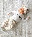 3 Шт./компл.! 2017 Осеннем стиле детской одежды новорожденных девочек одежда устанавливает хлопка с длинным рукавом футболка + брюки + оголовье костюм детская одежда