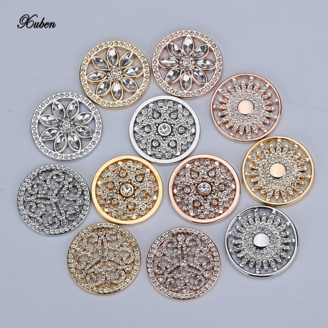 Rose Gold Austauschbar Mein 23mm Münzen Disc Für 25mm Münzhalter