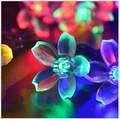 4.8M 20Leds Salor Power Christmas Flower lantern LED Garland Strip holiday festas wedding decoration colorful string lights