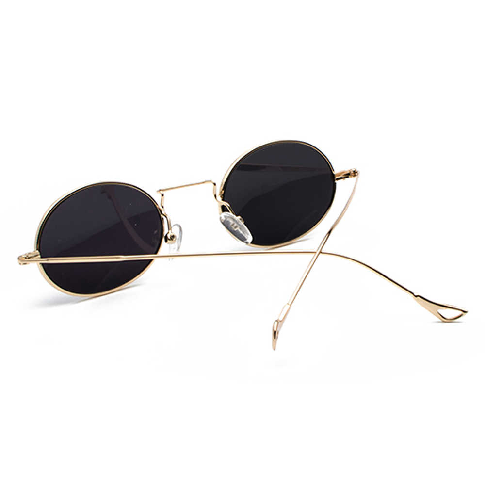 723783ad458 ... Kachawoo wholesale 6pcs small oval retro sunglasses men gold metal frame  red blue vintage sun glasses ...