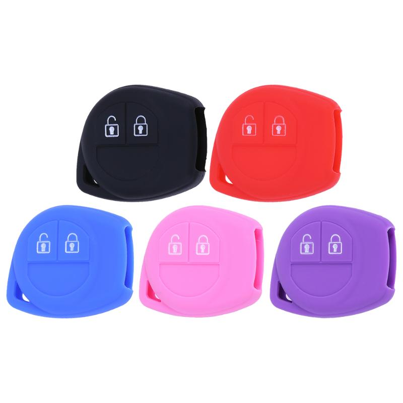 Car Accessories Silicone 2 Button Remote Key Case Key Pouch Bag Fob Protect Cover Car Key