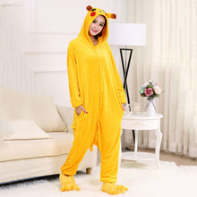 Pyjamas women Nightie  unorn flannel cartoon conjoined pajamas Cute Animal men and adult Homewear winter Sleepwear XL