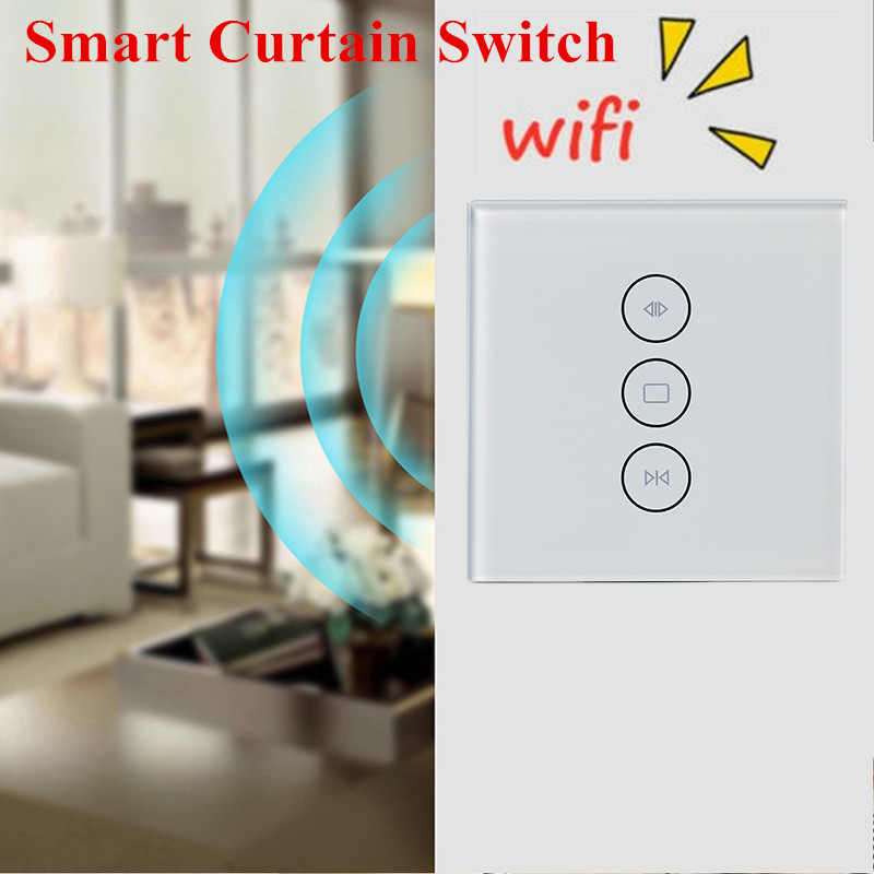 Image 1 - EU US WiFi Electrical Blinds Switch Touch APP Voice Control By Alexa Echo AC110 To 240V For Mechanical Limit Blinds Motor-in Home Automation Modules from Consumer Electronics