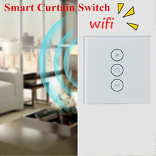 EU US WiFi Electrical Blinds Switch Touch APP Voice Control By Alexa Echo AC110 To 240V For Mechanical Limit Blinds Motor