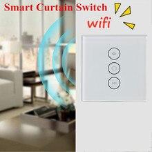 Eu 미국 wifi 전기 블라인드 스위치 alexa echo ac110 ~ 240 v 기계식 블라인드 모터 용 터치 app 음성 제어
