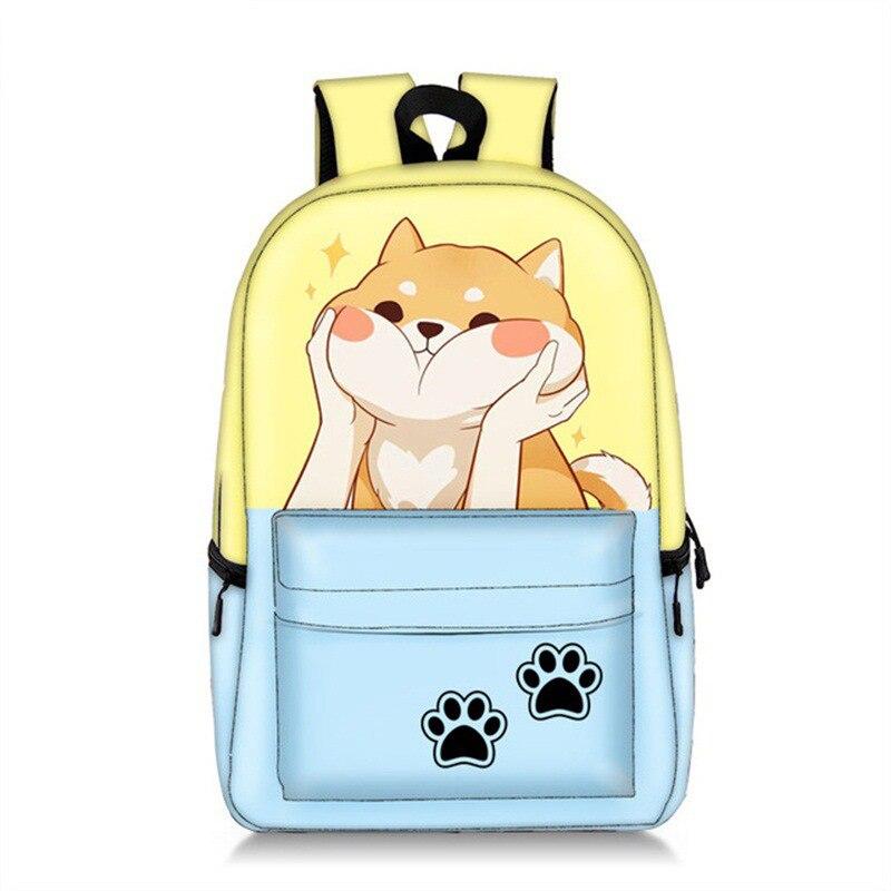 Для женщин милый рюкзак с героями мультфильма «Тоторо» и корги зверей единорогов; распылитель ранцевого типа для с печати Школьный рюкзак,
