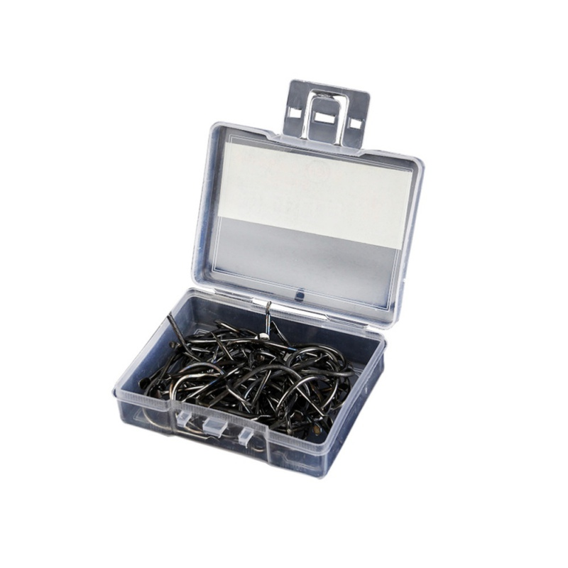 Image 1 - 100pcs Wholesalers Fishing Bait Barb Fishhook Lure Tackle With Box Size 4/6/8/10/12  new-in Fishhooks from Sports & Entertainment