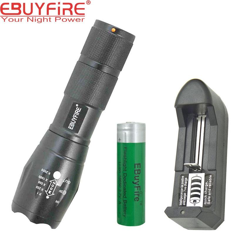 EBUYFIRE Mi-E17 LED Flashlight 18650 Torch Waterproof 3x AAA Led light XM-L T6 3800LM Battery