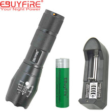 MINI E17 CREE XM-L T6 2000LM Torch Zoomable LED Flashlight light by 3xAAA battery + 2x 3.7v 18650 6000mah Battery+charger