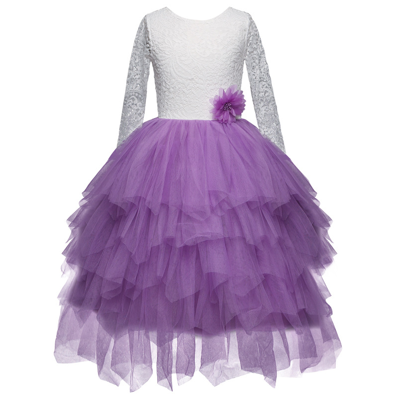 KA Beauty - Robe - Fille Violet Lilas