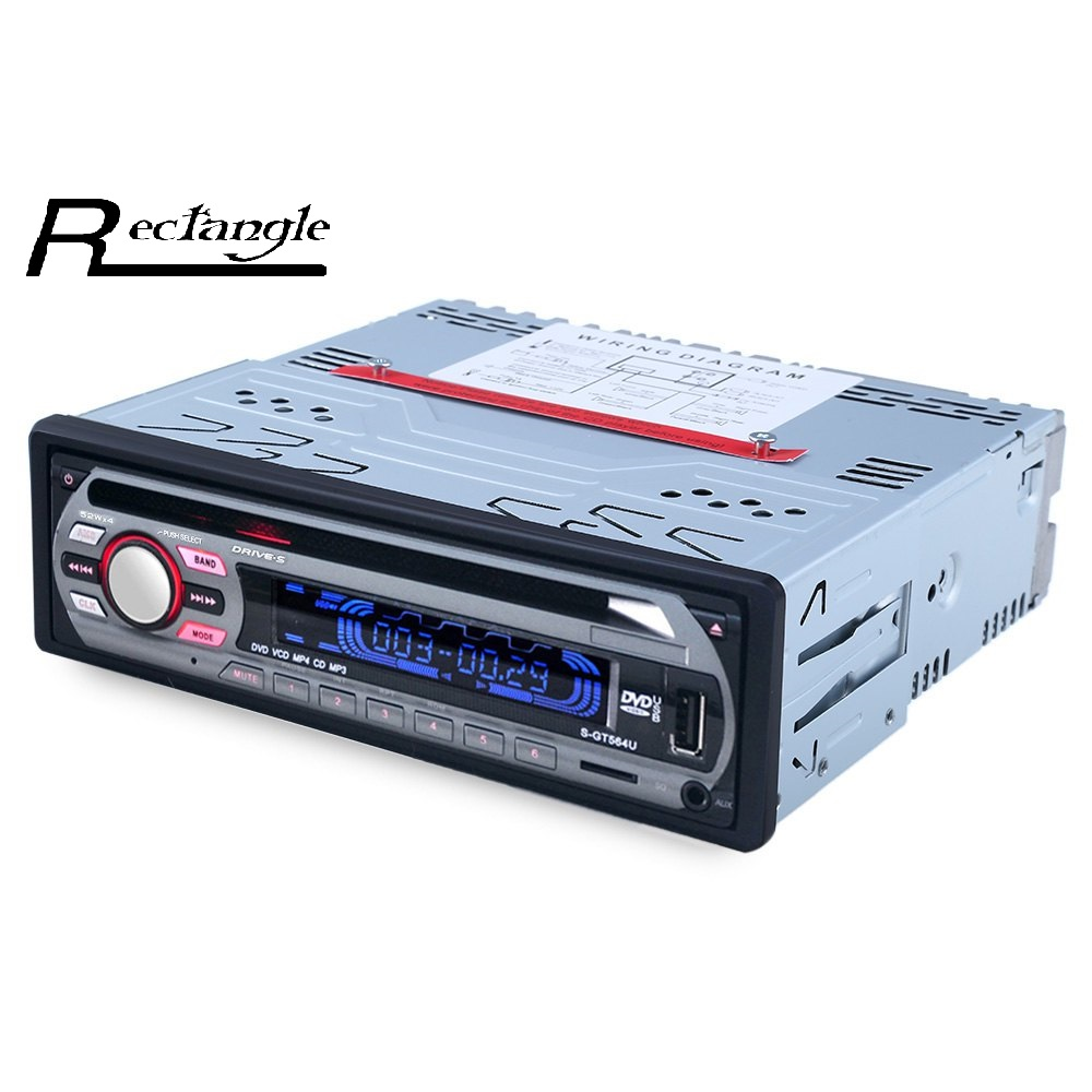 ФОТО Newest Car Stereo High-definition Digital FM Radio MP3 Audio Player Support FM USB SD DVD Mp3 Player AUX Mic with Remote Control