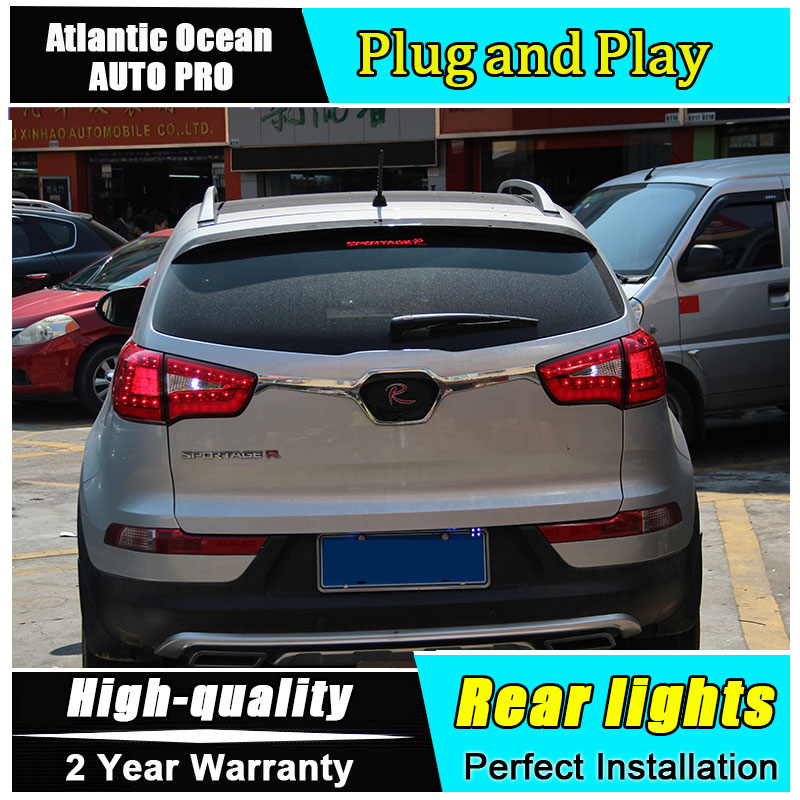 A&T Car Styling for Kia SportageR Taillights 2011-2014 Sportage R LED Tail Lamp LED Rear Lamp DRL+Brake+Park+Signal led lights car styling for honda city taillights 2009 2014 for city led tail lamp rear lamp drl brake park signal led lights