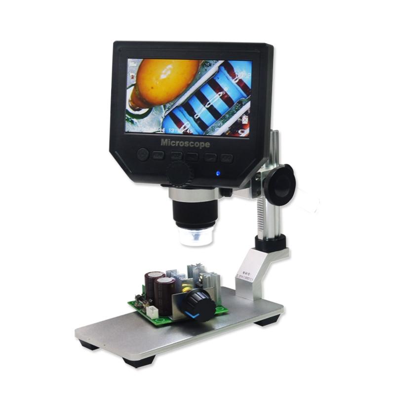 600X PCB Mobile Repair Digital Microscope 3.6MP Screen Industry Video Microscope 600x digital electronic microscope portable 3 6mp mobile phone microscopes hd pcb motherboard repair magnifier al alloy stent