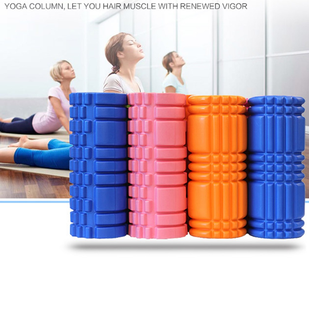 Aolikes Yoga Foam Roller 30cm Gym Exercise Yoga Block Fitness Floating Trigger Point Physical Massage Therapy 6 Colors