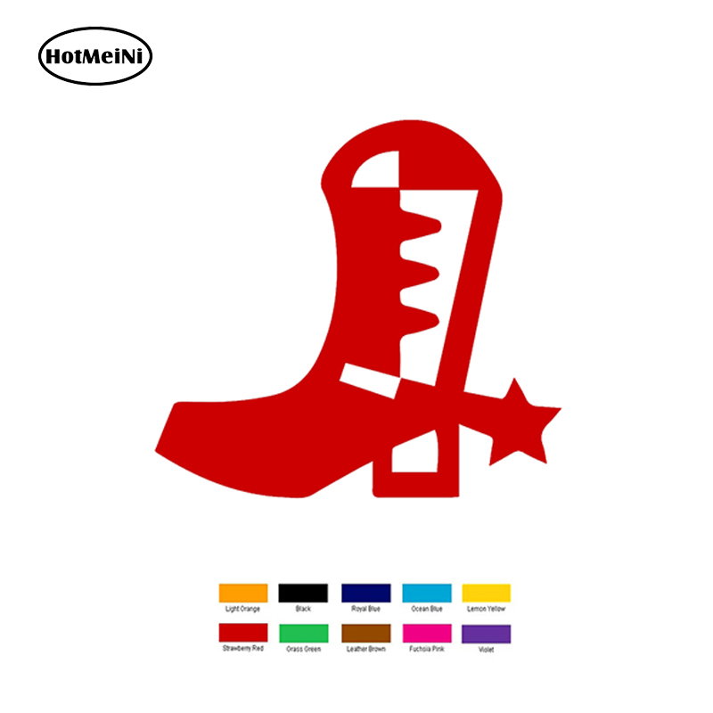 HotMeiNi 15cm x 15cm Cowboy Boot Car Sticker For Truck Window Bumper Auto SUV Door Laptop Kayak Vinyl Black/Sliver