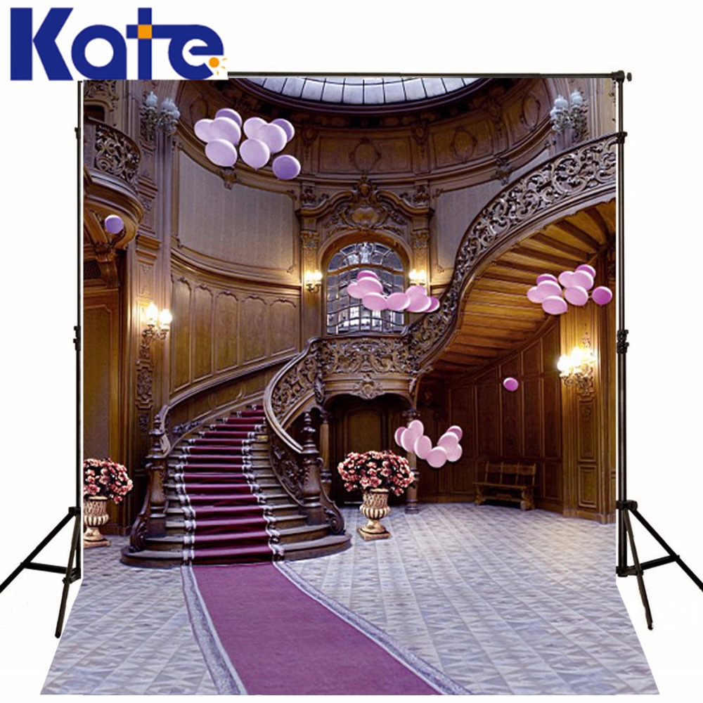 300CM*200CM Kate Wedding Photo Backgrounds Staircase Leading to the Second Floor Photography  Photography Backdrops LK- 3398 600cm 300cm backgrounds garden beautiful sunshine photography backdrops photo lk 1566
