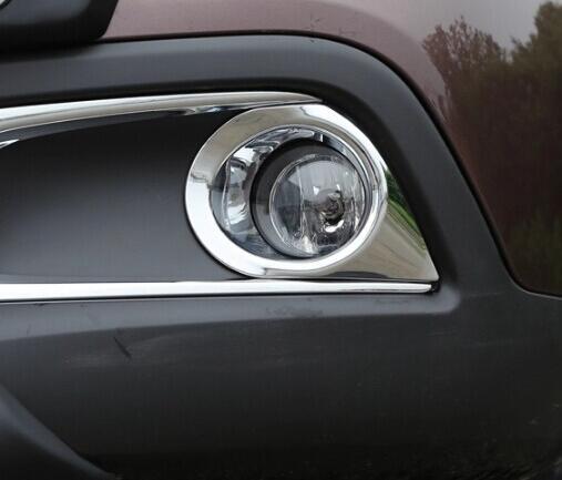 Carmilla 2PCS / SET ABS cromado etiqueta de la cubierta de la lámpara antiniebla delantera del coche para Peugeot 2008 año 2013 2014 2015 2016 Reajuste Acc.