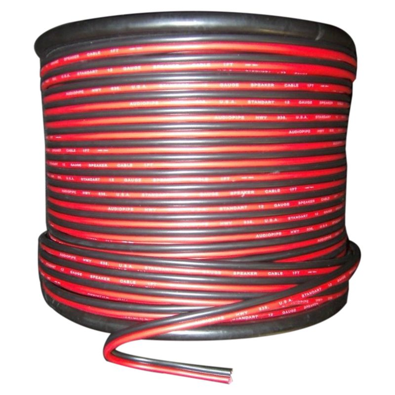 24 GAUGE 15M RED BLACK ZIP WIRE AWG CABLE POWER GROUND STRANDED COPPER CAR peavey ground stack kit black