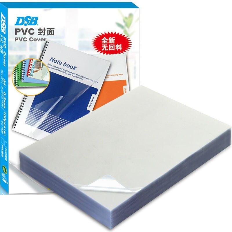 Dsb PVC transparan mengikat penutup Sampul buku plastik