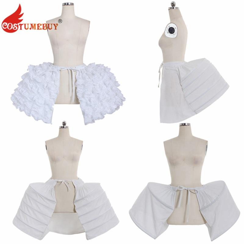 Costumebuy Medieval Victorian Rococo Gown Dress Petticoat Bustle Crinoline Wedding Party Underdress Jupon Underskirt Pannier