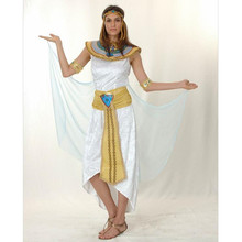 Ancient Egypt Pharaoh Queen Costumes Princess Royal Golden Women Men Priest Costume adult halloween cosplay kids child clothing