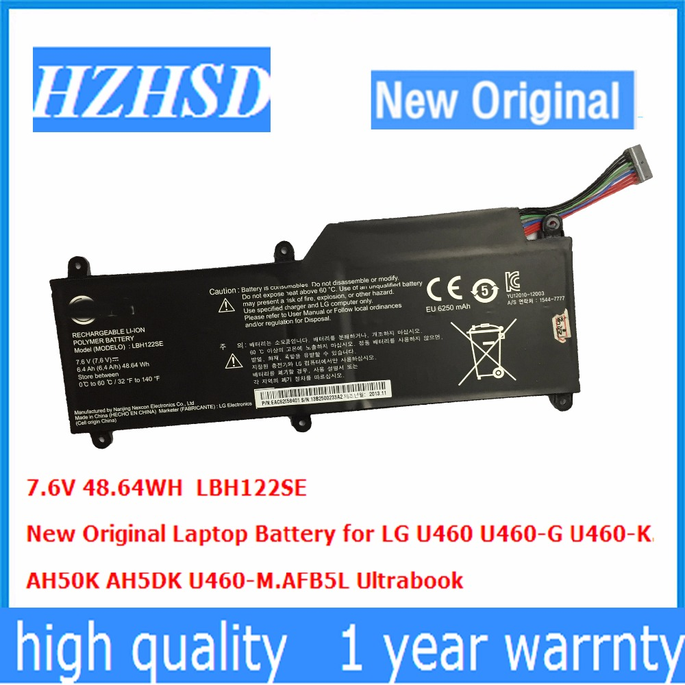 7.6V 48.64WH New Original LBH122SE Laptop Battery For LG U460 U460-G U460-K.AH50K AH5DK U460-M.AFB5L