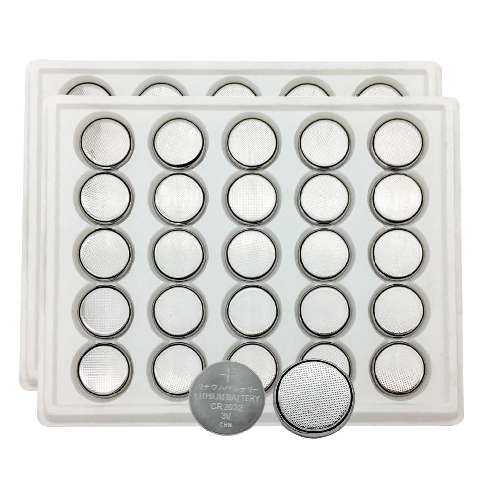 MJKAA 50PCS 2032 Battery CR2032 Button Cell Batteries DL2032 KCR2032 5004LC ECR2032(0 mjkaa