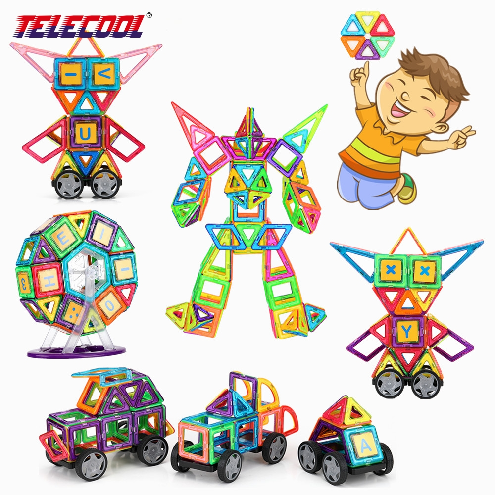 TELECOOL 68/89/102 PCS Big Size Magnetic Designer Building Blocks Toys Inspire Adult & Kids Construction Education Toy telecool magnetic building blocks toys mini 80 100 pcs diy set inspire kids educational construction designer toy