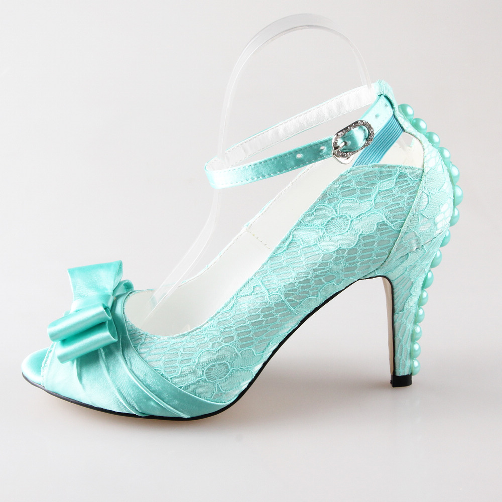 Popular Mint Bow Heels-Buy Cheap Mint Bow Heels lots from China ...