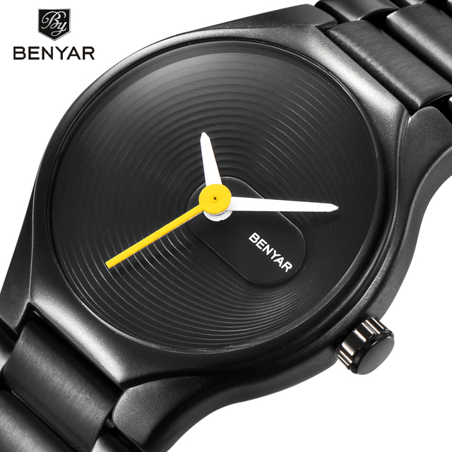 BENYAR Waterproof Full Steel Fashion Casual Men Watches Top Brand Luxury Busines