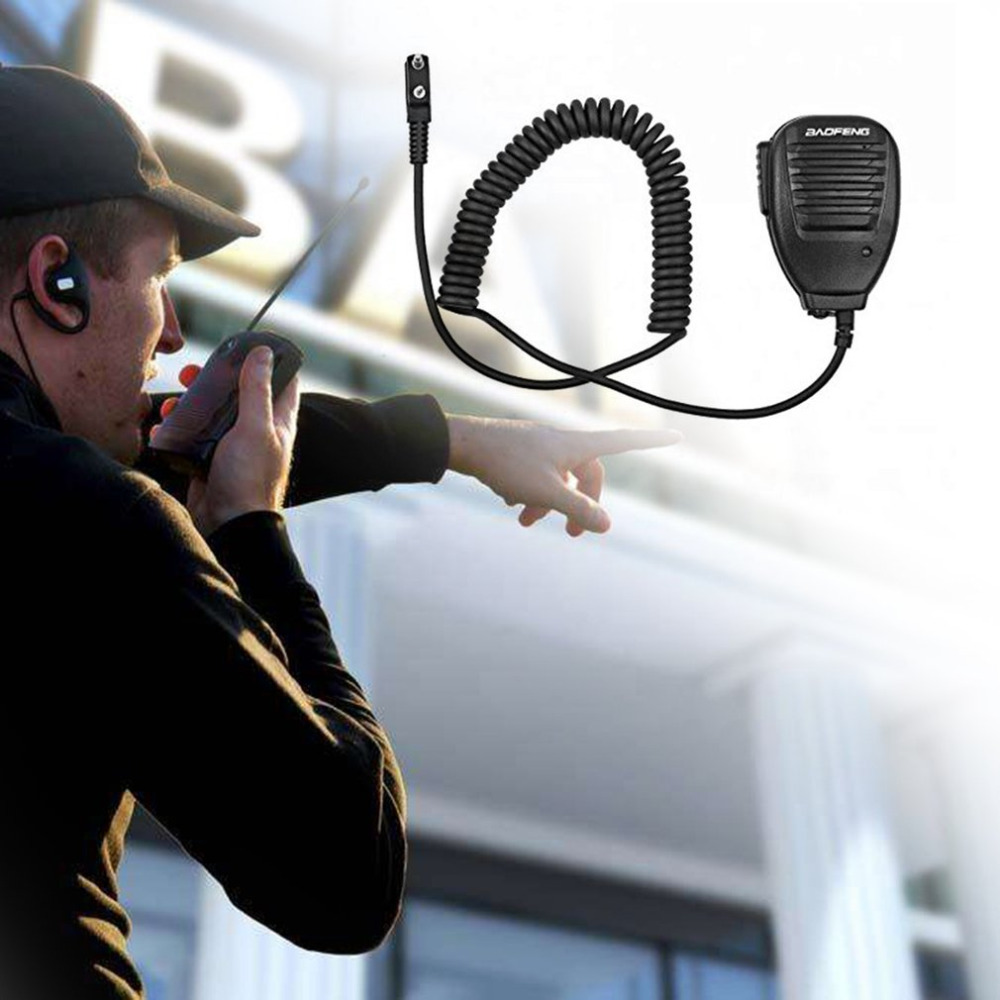 Baofeng 2-Way Radio Speaker Mic For Baofeng BF-888S UV-5R UV-5RA UV-5RB UV-5RC UV-5RE Radio Walkie Talkie For Kenwood