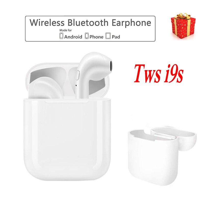 JUESSEN i9s iFANS Senza Fili Doppia Cuffia TWS Bluetooth Écouteur per iPhone X Auricolari Senza Fili Auricolare Del Telefono Mini oordopjes