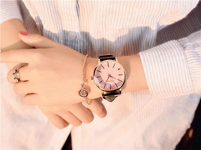 Polygonal dial design women watches luxury fashion dress quartz watch ulzzang popular brand white ladies leather wristwatch 12