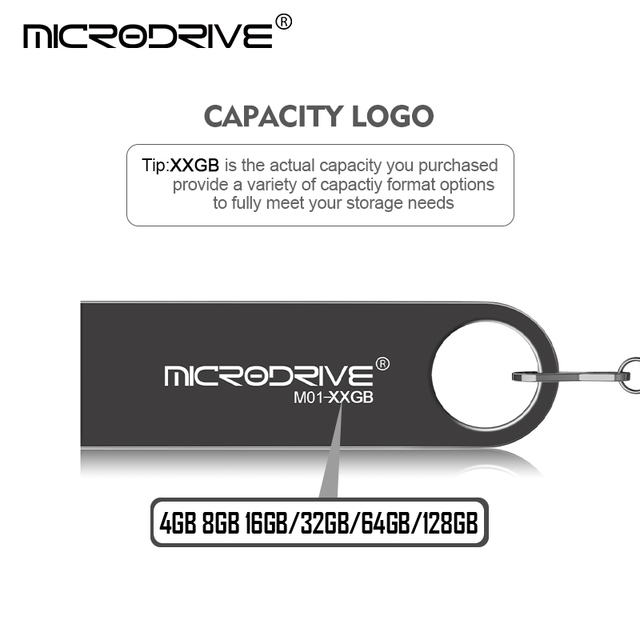 High Qulity USB Flash Drive 4GB 8GB 16G Pen Drive 128GB 64GB 32GB Metal pendrive USB 2.0 Drive Memory usb stick Waterproof 3