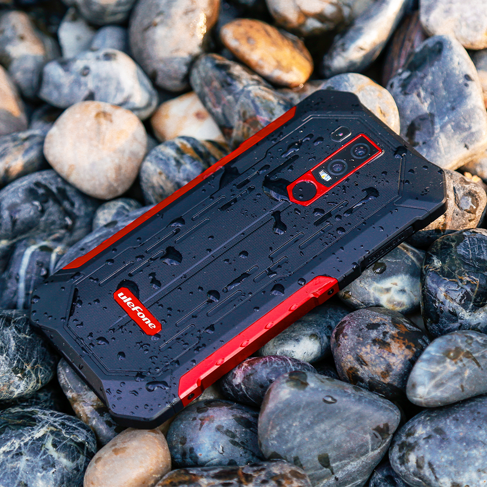 Image 3 - Ulefone Armor 6E Waterproof IP68 NFC Rugged Mobile Phone Helio P70 Otca core Android 9.0 4GB+64GB wireless charge Smartphone-in Cellphones from Cellphones & Telecommunications