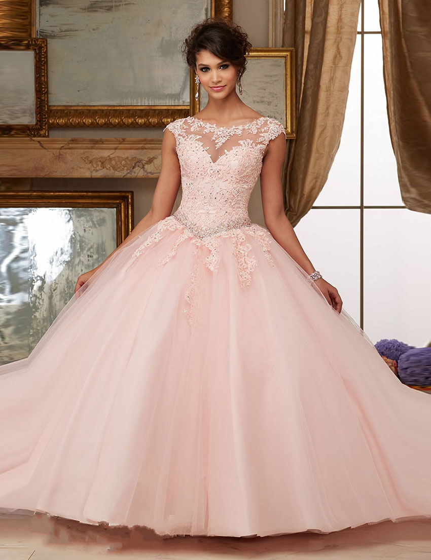 Quinceanera Dresses Lovely Sweetheart Quinceanera Dresses Pink Color Lace Inside Tulle Skirt Vestidos De Debutantes De 15 Anos Puffy Ball Gowns Perfect In Workmanship