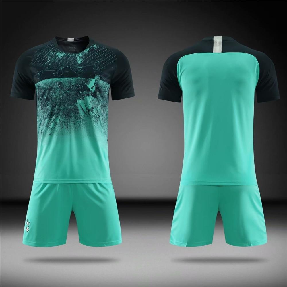 2019 Custom Football Kits Soccer Jersey Short Sleeve Team Suit Kids And Adult
