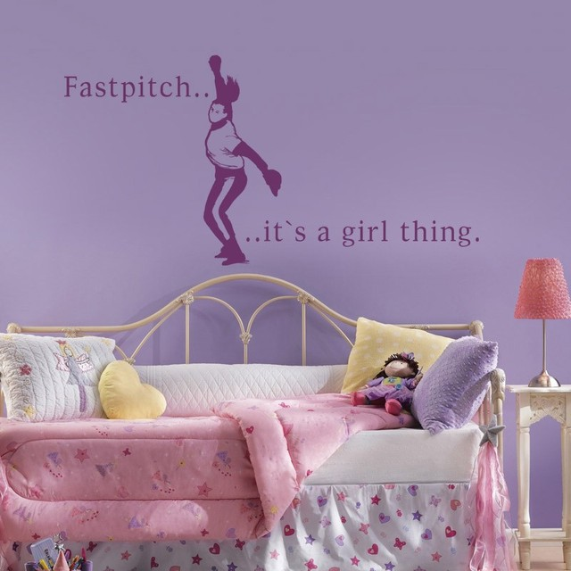 Girls Room Decal Fastpitch Sport Baseball Softball