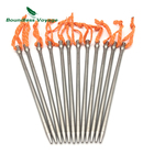 Boundless Voyage 4-12pcs Tent Accessory Titanium Tent Pegs Camping Tent Stakes Portable Tent Pegs Ti1555B