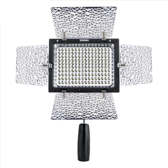 Yongnuo YN-160 II, LED Video Light Lamp for Canon 650D 5D Mark II 6D 7D 60D 600D 550D + Free Shipping with Tracking Number jjc 3 in 1 stacking grid light modifier system for canon yongnuo black