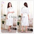 Мужская женщин людей твердые обычная район шелковый халат пижамы белье рубашки халат кимоно платье pjs женщины одеваются 7 цвета # 3749