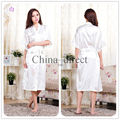 Unisex mens womens Solid plain rayon silk Robe Pajama Lingerie Nightdress Bathrobe Kimono Gown pjs Women Dress 7 colors #3749