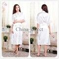 Unisex para mujer para hombre llana sólida rayon silk Robe pijama camisón albornoz del vestido del Kimono mujeres se visten 7 colores #3749