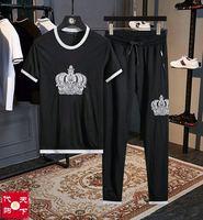 AH0411 Модные мужские комплекты 2019 взлетно посадочной полосы Роскошные известный бренд Европейский дизайн вечерние стиль мужская одежда