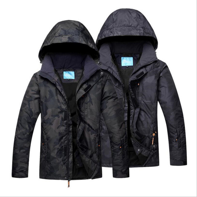 4c78999105 2018 Men Ski Jacket Waterproof Jacket Skiing Snowboard Jacket Camouflage  Style Super Warm Thicken Thermal Sport Wear Clothing