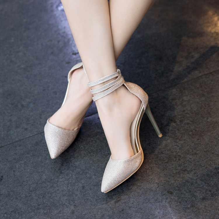 Size Lớn 11 12 13 14 15 16 17 cao gót nữ giày nữ người phụ nữ Mùa Hè Nữ Gói gót chân chỉ Dày có Xăng đan