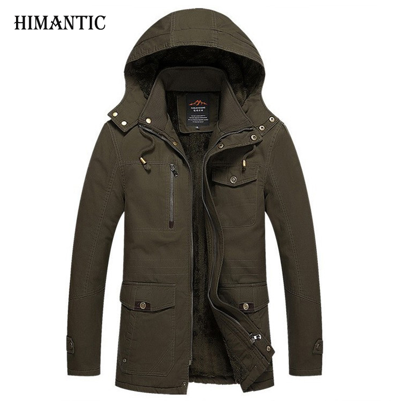 Winter Jacket Men Casual Cotton Thick Warm Coat Men s Outwear Parka Plus size 4XL Coats