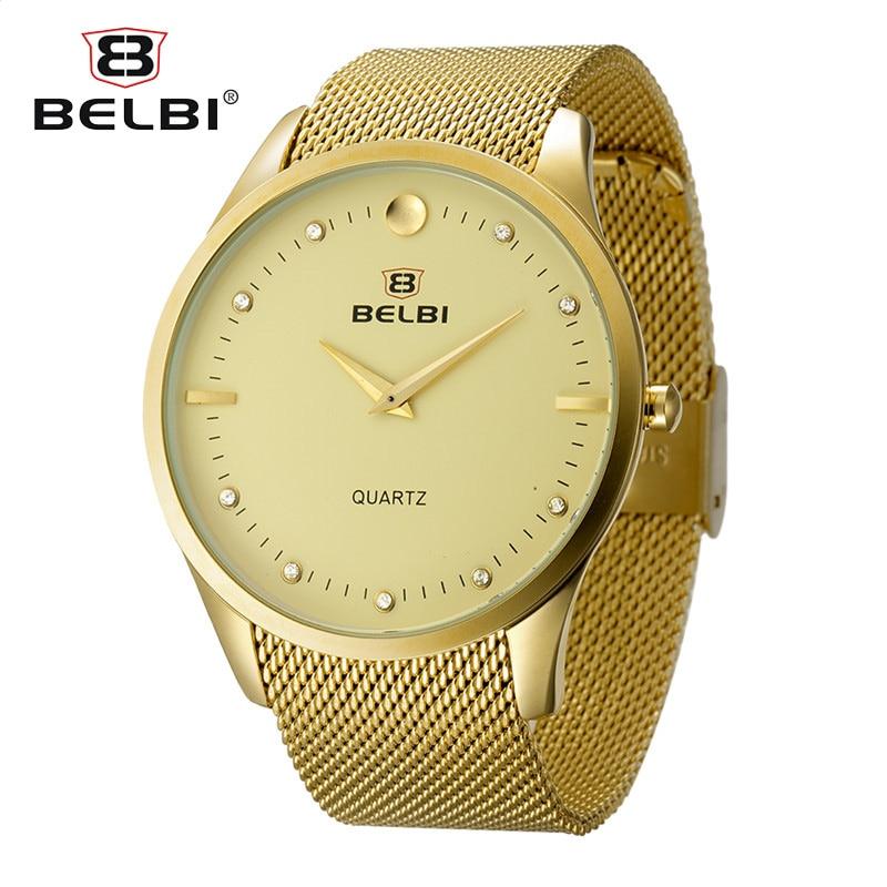 NEW Style Fashion Men Wristwatch Thin Steel Bracelet Waterproof Gentlemen Watch Business Quartz PC21 Clock Brand