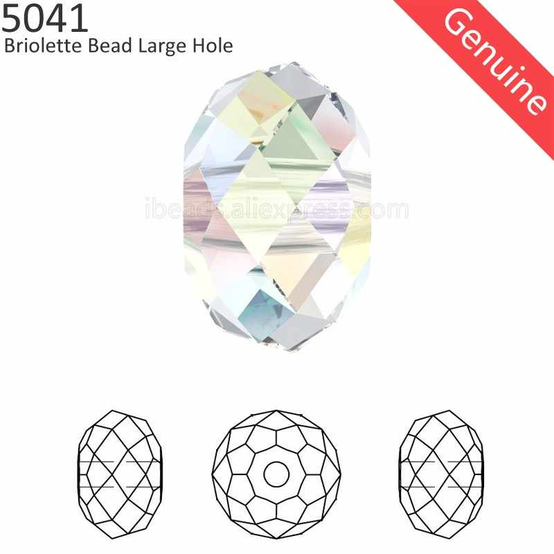 (1 piece) 100% ORIGINAL Crystal from Swarovski 5041 Briolette bead (large hole) loose rhinestone beads for DIY jewelry making